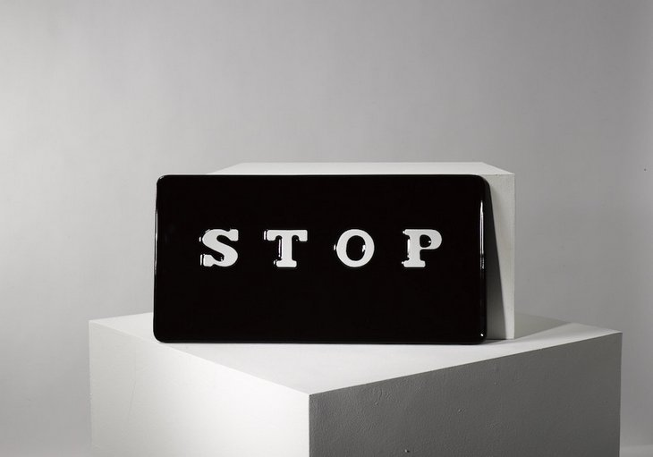 Cornelia Parker's Stop is also sold by Plinth