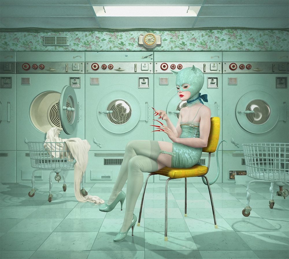 Ray Caesar_Launderette_34x48inches_86x121cm_Archivial chromogenic print mounted on dibond_edition of 20
