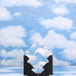 DELVAUX_Magritte_Message-S-M-L-Dans-Les-Nuage