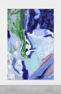 Donna Huanca EUNOMIA, 2019-2020 Oil, sand on digital print on canvas 275 x 180 cm (108 1/4 x 70 7/8 in.) FAD MAGAZINE