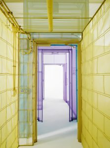 Do Ho SuhPassage/s, 2016Polyester fabric on stainless steel pipesDimensions variable© Do Ho SuhCourtesy the Artist, Lehmann Maupin, New York and Hong Kongand Victoria Miro, London