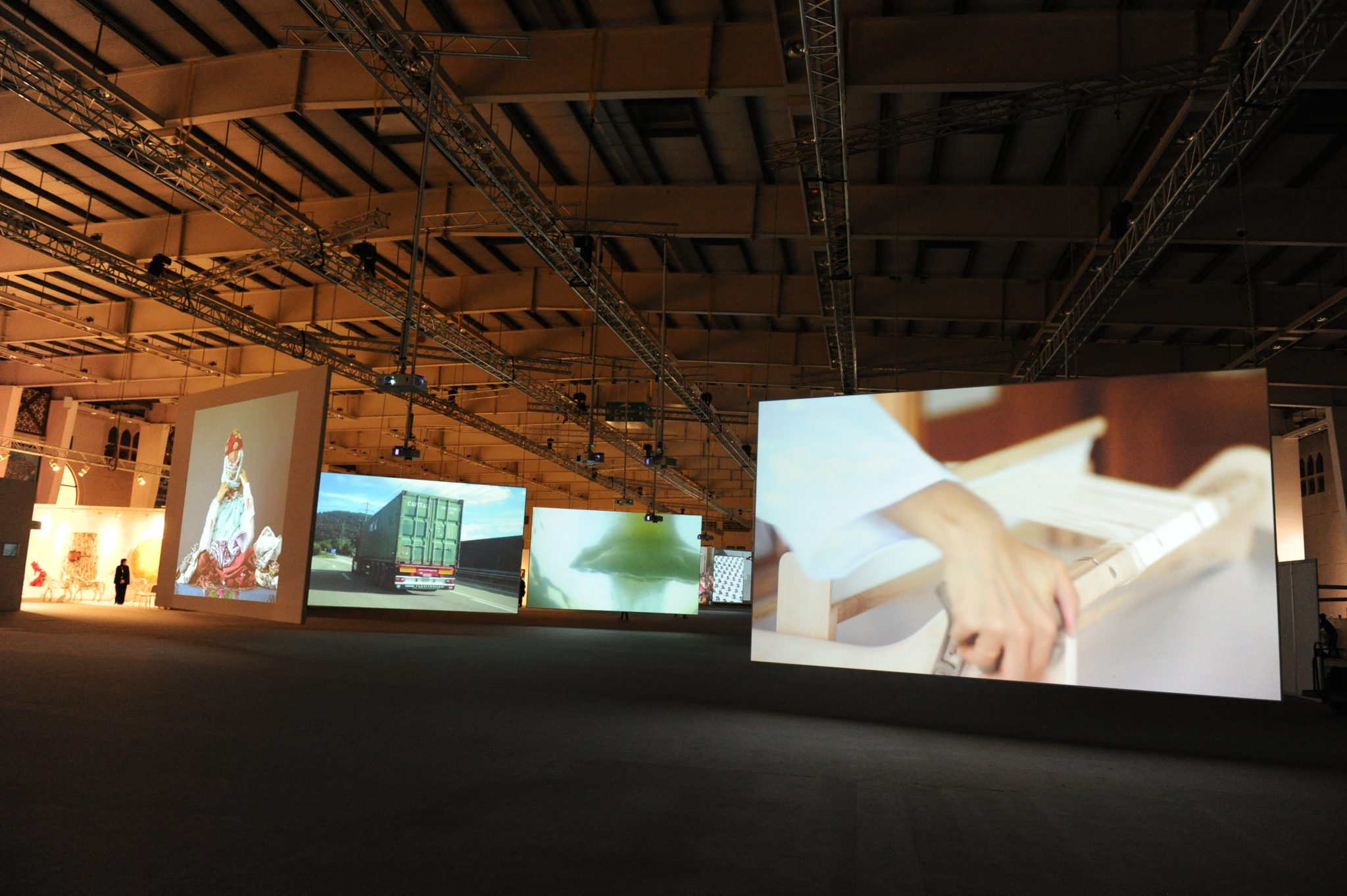 'Floating World' Video Installations on 32 huge screens at ArtBAB