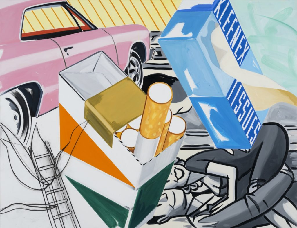 David Salle Shining in All Directions , 2019 Oil, Acrylic and charcoal on linen