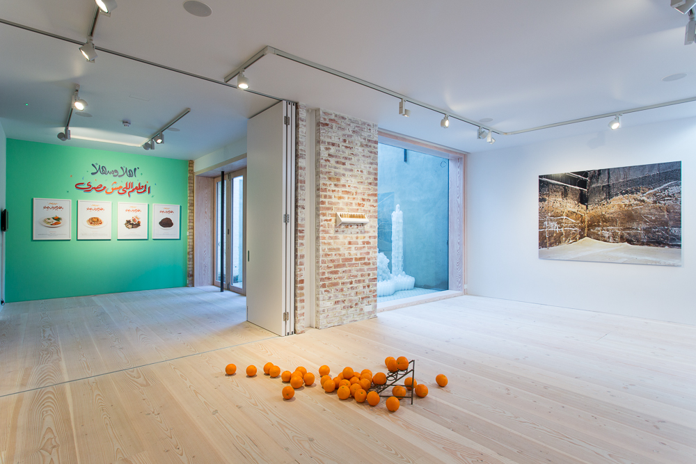 Delfina Foundation Installation View, 'The Politics of Food', 2014 © Tim Bowditch