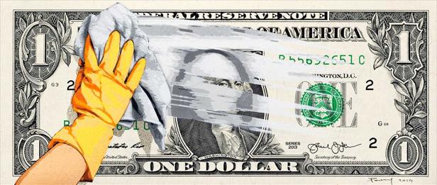Dirty Money - One Dollar', 2019, Banksy (British 1974-)