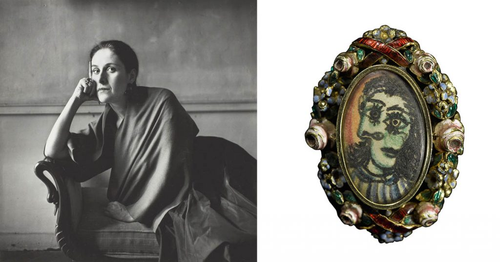 Dora Maar appears to be wearing her Picasso ring (at right) in the 1948 portrait by Irving Penn Photo ©The Irving Penn Foundation via The Art Institute of Chicago and courtesy of Sotheby's