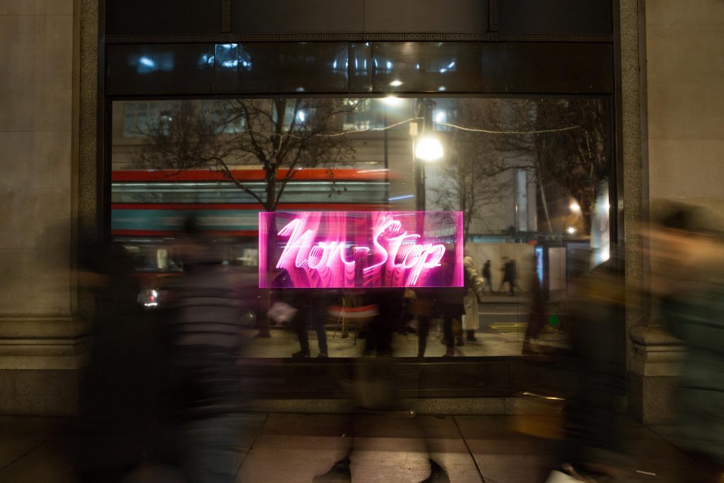Douglas Gordon - Non Stop - Selfridges launches State Of The Arts, a new art campaign running until 30 March (13)