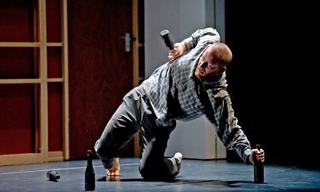 Drunken dancer?  John by DV8 tells the tale of an abused everyman