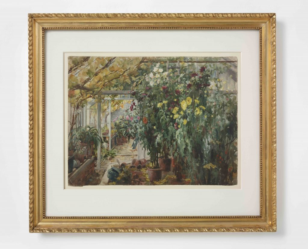 Edith Dawson (1862-1928), Conservatory at Renishaw, about 1885, watercolour and pencil on paper © Victoria and Albert Museum, London