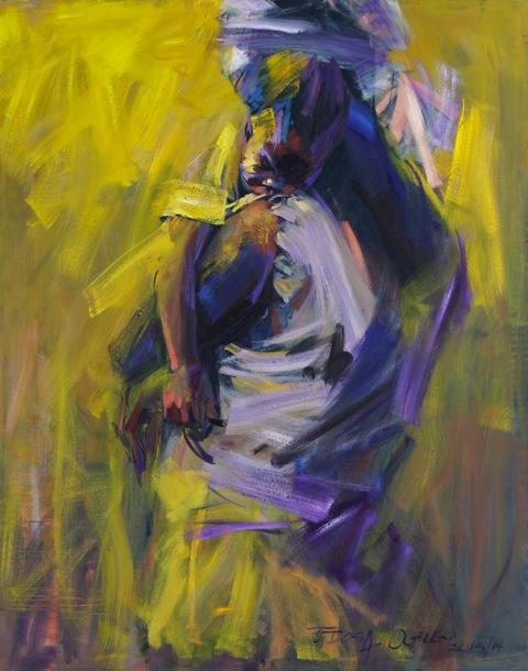 Edosa Ogiugo - Peace Like A River - 2013-14 126.9 cmx101.5 cm-Oil on canvas