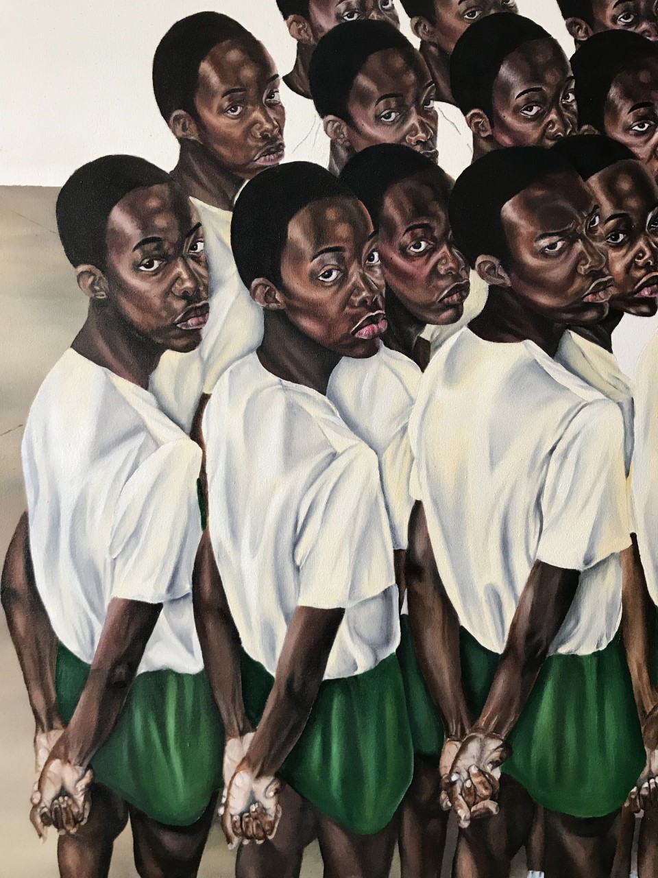 Ekene Emeka Maduka, Morning Assembly, 2020. Oil on canvas. Courtesy Polartics