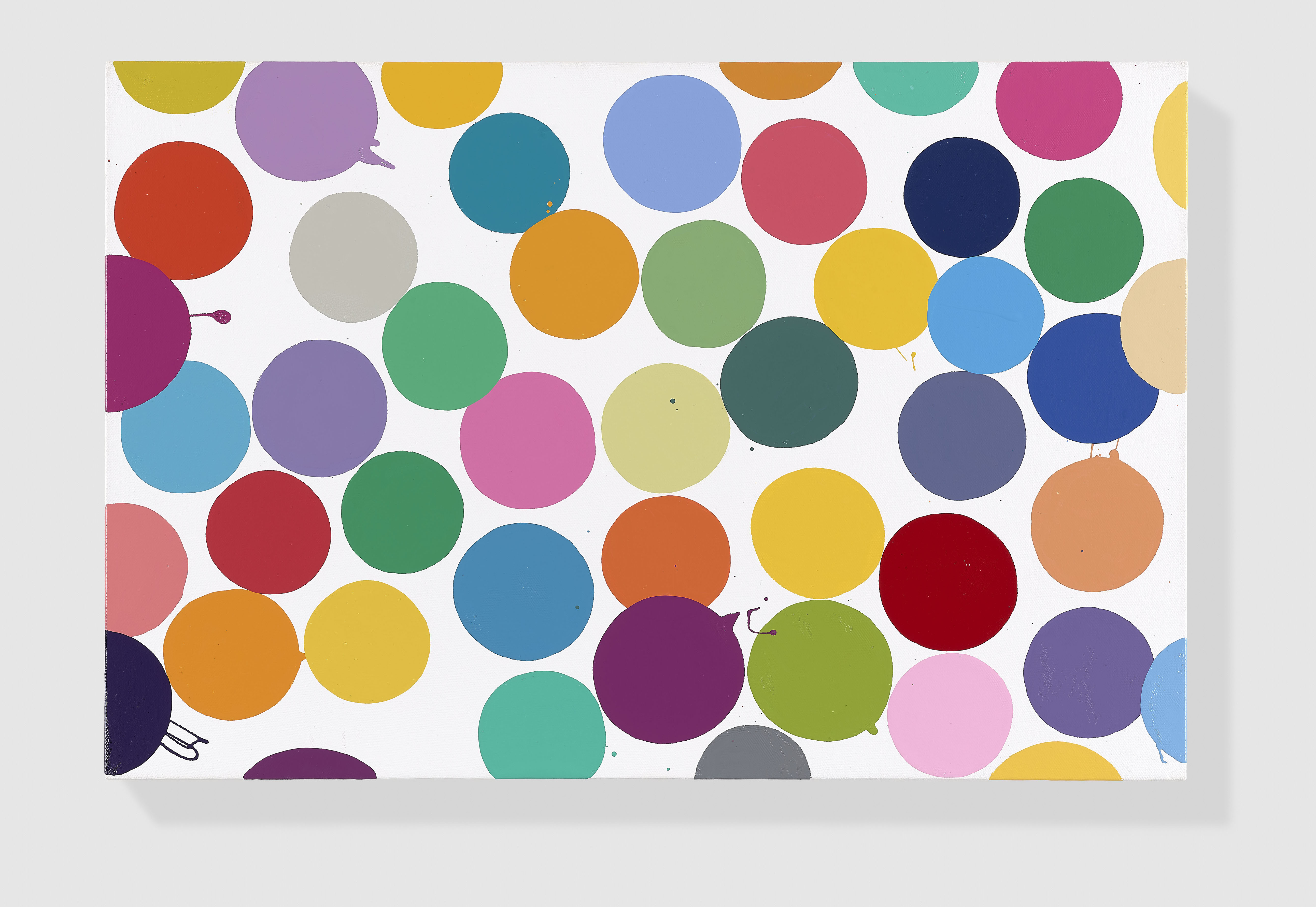 English Lilac (2016) Household gloss on canvas 406 x 610 mm © Damien Hirst and Science Ltd. All rights reserved, DACS 2017 Photographed by Prudence Cuming Associates Ltd