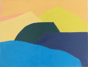 Etel Adnan, Sans Titre, 2014, oil on canvas, 32cm x 41cm unique work. Donated to Women for Women