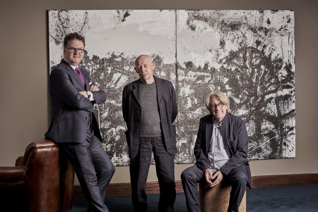 Fortnum's X Frank 2018, Ewan Venters, John Virtue, Frank Cohen, Courtesy Fortnum & Mason, Credit Phillip Sinden