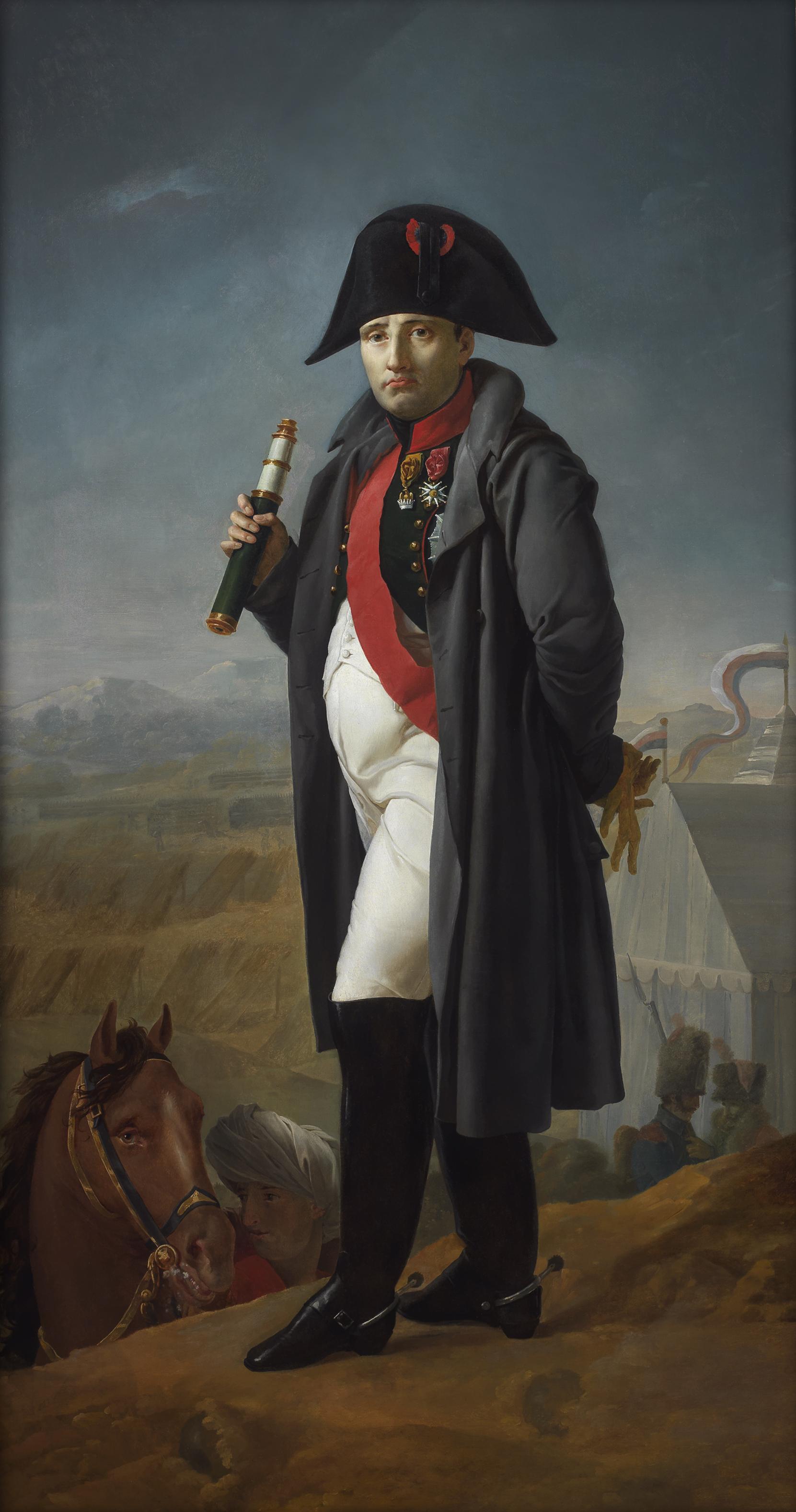 Joseph Franque Sa Majesté l'Empereur: Le matin de la bataille de la Moskowa, c. 1812 Oil on canvas : 225.5 x 118.5 cm