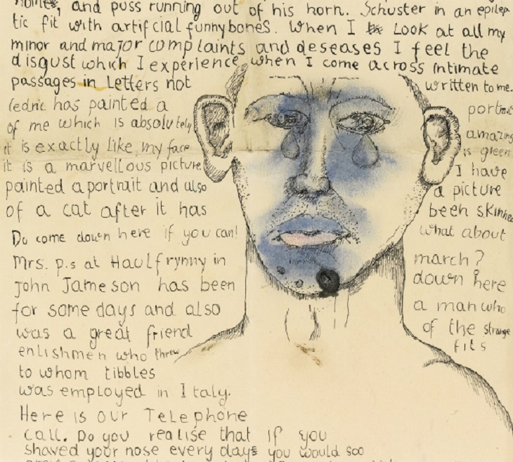 Freud-Letter-to-Stephen-Spender-1941-Self-Portrait