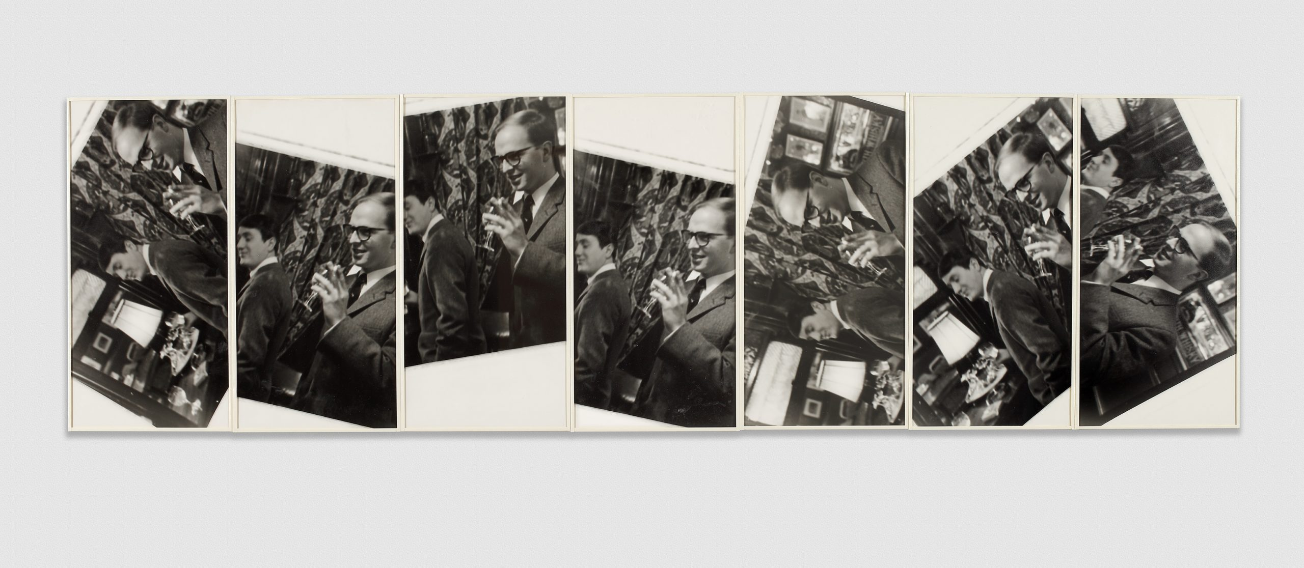 Gilbert & George A Toast, 1973 Gelatin silver prints in artists' frames 7 parts, 51.5 x 180.5 cm; (20 1/4 x 71 1/8 in.) total
