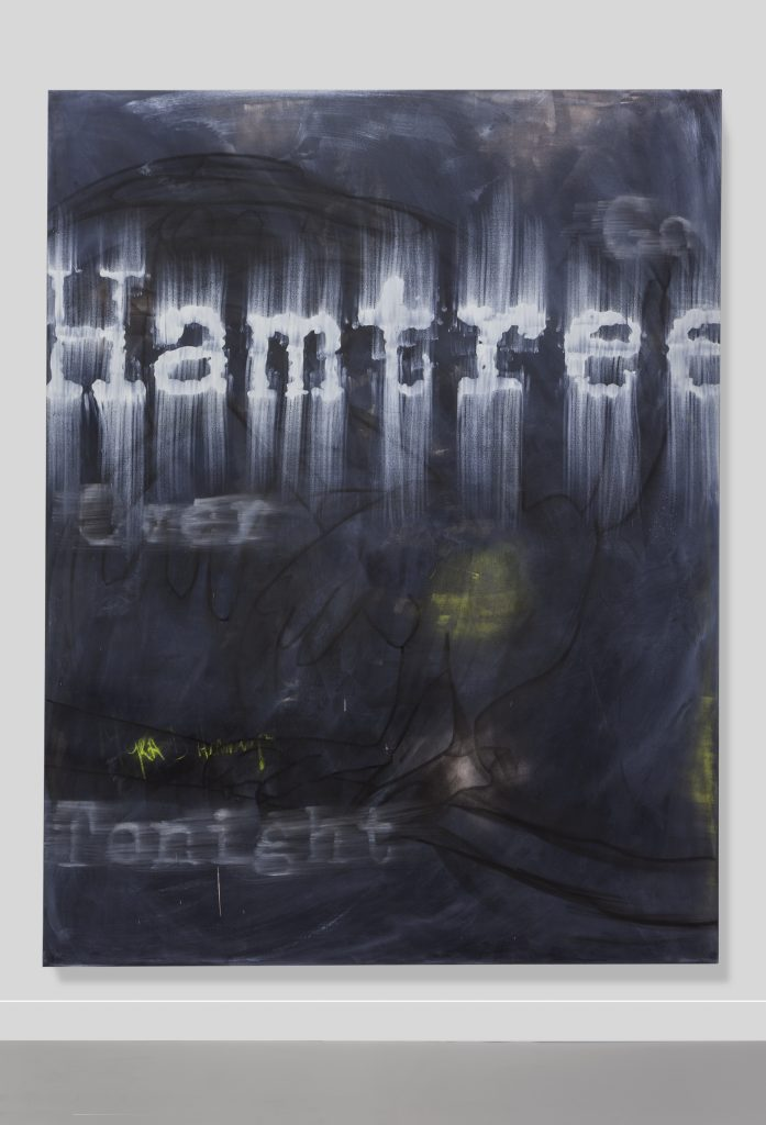 Gary Simmons Hamtree, 2018 Mixed media on canvas 274.3 x 213.4 cm (108 x 84 in.)