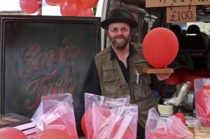 Gavin Turk at the Vauxhall Art Car Boot Fair 2013
