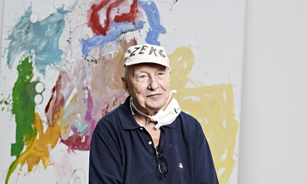 George Baslitz in his studio