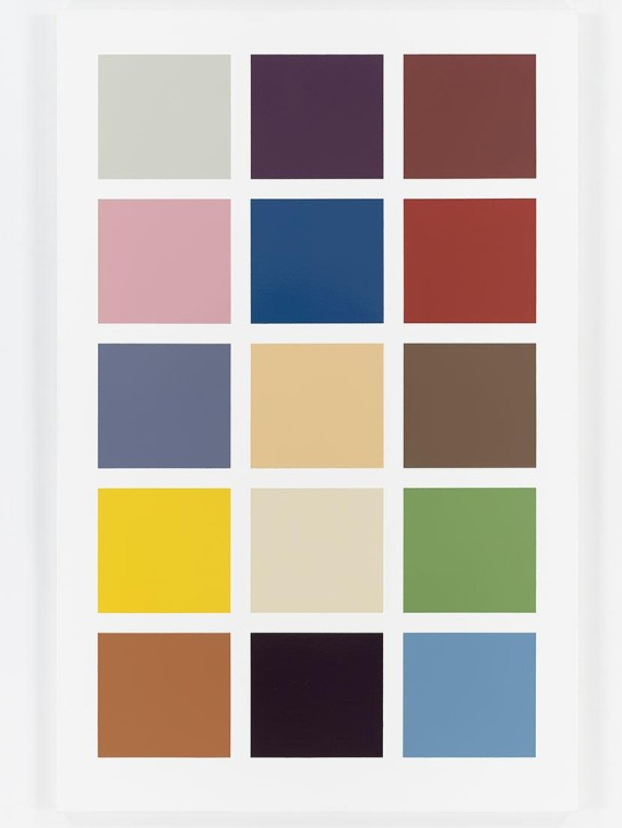 Fünfzehn Farben (Fifteen Colours) by Gerhard Richter. Photo: Tom Powel Imaging, Inc. Courtesy the artist and Domique Levy
