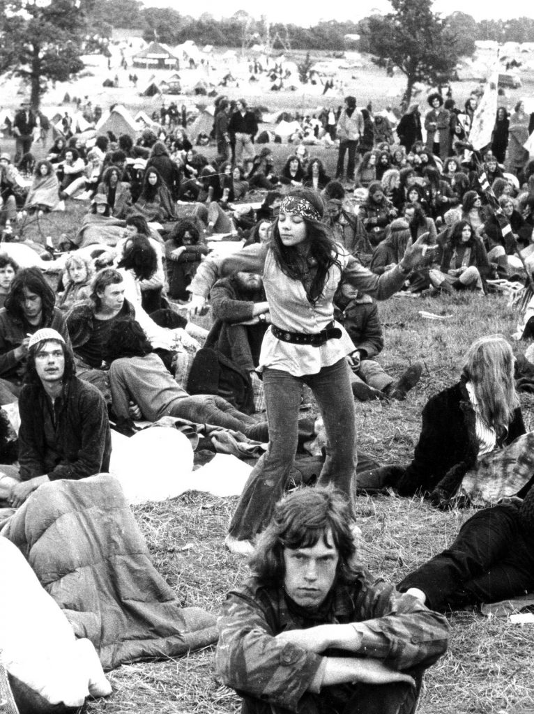 Glastonbury, 1970s. Copyright Brian Walker