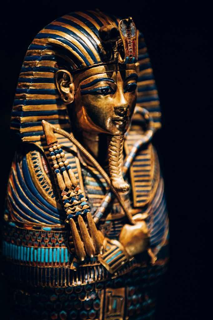 Gold Inlaid Canopic Coffinette of Tutankhamun Dedicated to Imseti and Isis - CREDIT IMG