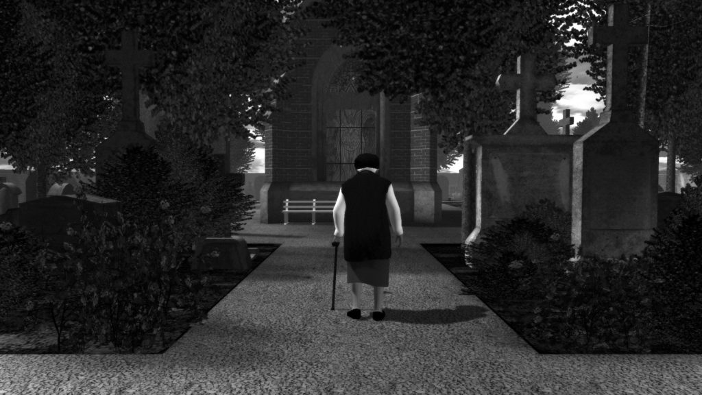 Graveyard Screenshot 'Approaching' © Auriea Harvey & Michael Samyn, Tale of Tales