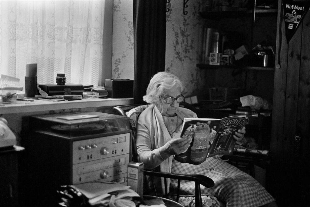 Skin Phillips,Grandma Thrasher, 1984. Swansea. FAD MAGAZINE