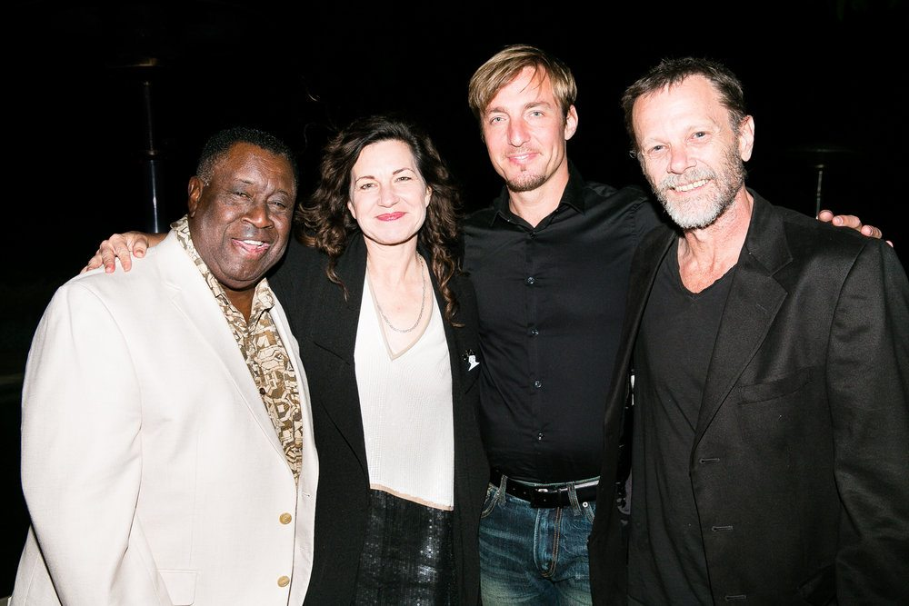 H.B. Barnum, Frances Stark, Danko Drusko, and Greg Ellis at the premiere of The Magic Flute