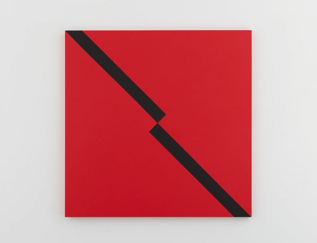 Carmen Herrera, Camino Negro (2017), Acrylic on canvas, 152.4 x 152.4 x 3.8 cm, 60 x 60 x 1 1/2 in