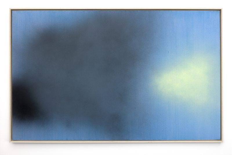 Hans Hartung T1983-E46, 1983 Acrylic on canvas 154 x 250 cm (60 5/8 x 98 3/8 in.) © Hans Hartung / ADAGP, Paris 2017 Courtesy Simon Lee & Perrotin