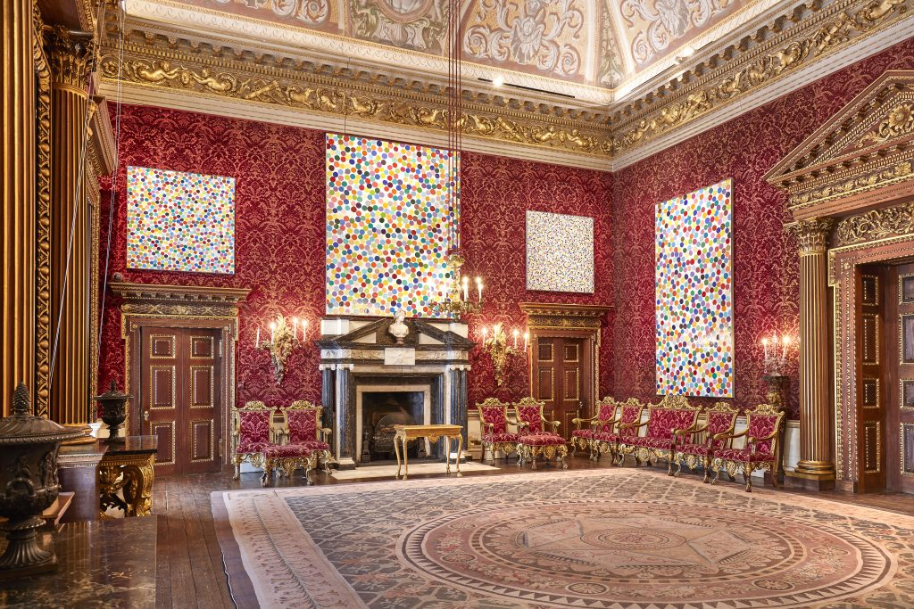 Damien Hirst, Colour Space series, in the Saloon at HOUGHTON HALL, NORFOLK ©Damien Hirst and Science Ltd. All Rights Reserved, DACS 2018 Photo by Pete Huggins