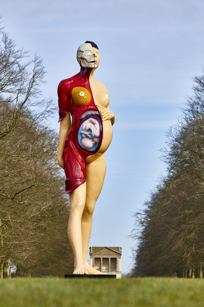 Damien Hirst, The Virgin Mother, in the Pleasure Grounds at HOUGHTON HALL, NORFOLK ©Damien Hirst and Science Ltd. All Rights Reserved, DACS 2018 Photo by Pete Huggins FAD MAGAZINE