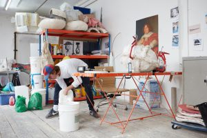 Hamish Pearch in his studio