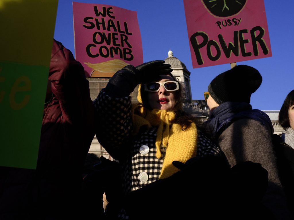Hannah Starkey, 'Pussy power', Women's March, London 2017