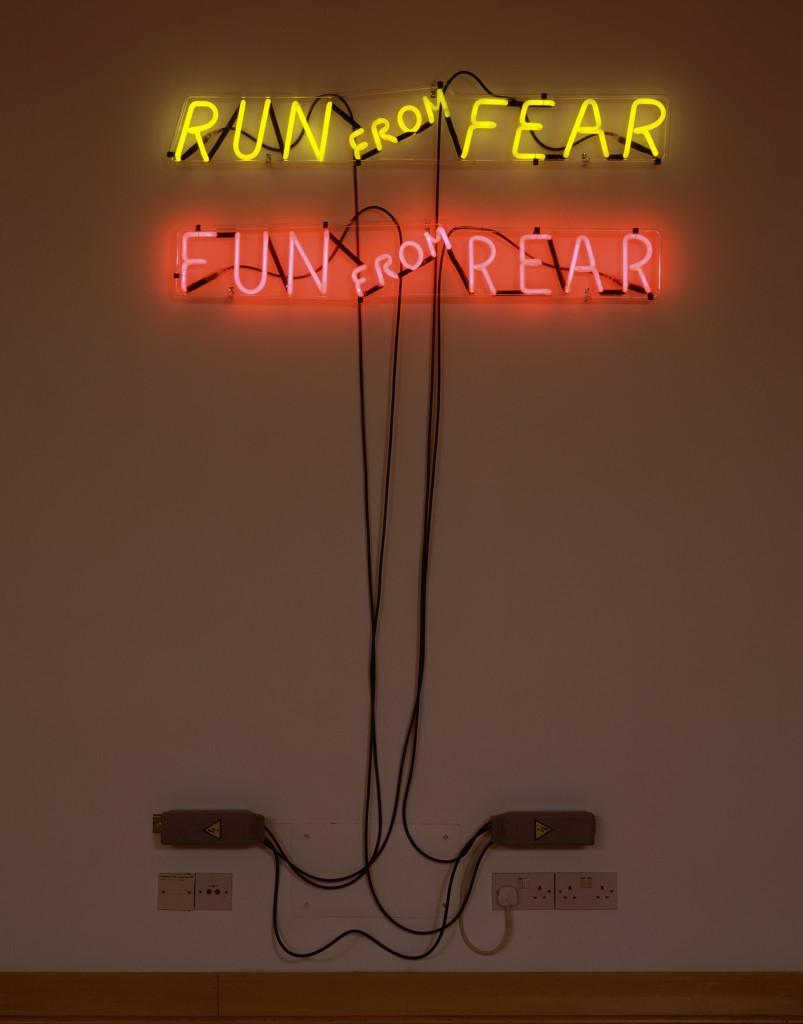 Hauser Wirth London Savile Row Bruce Nauman Run from Fear Fun from Rear 1972 803x1024 Bruce Nauman / mindfuck