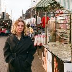 Helen Nisbet at Walthamstow Street Market, 2018. Photo by Cathy Buckmaster, courtesy of Art Night