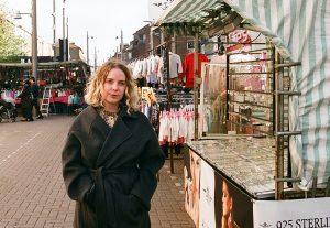 Helen Nisbet at Walthamstow Street Market, 2018. Photo by Cathy Buckmaster, courtesy of Art Night
