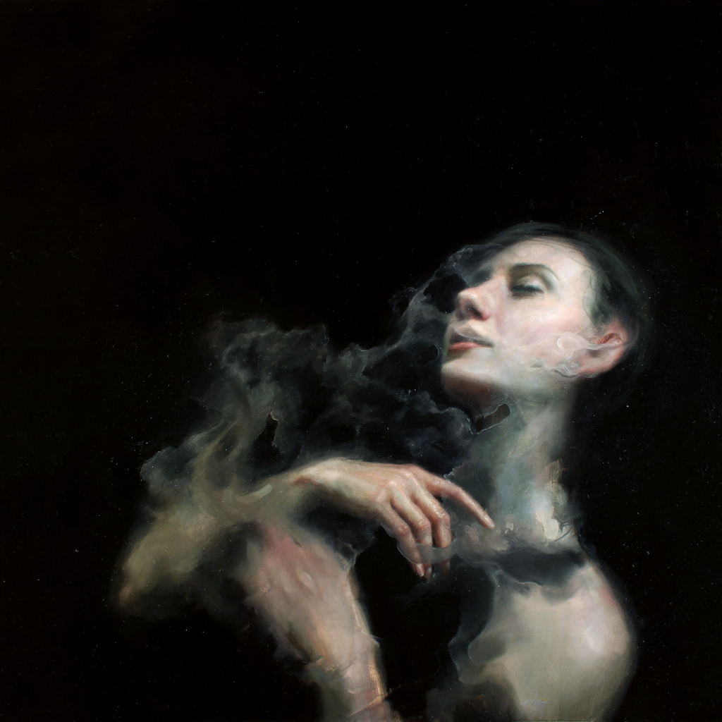 Henrik Uldalen, Efflux, 2015, Oil on panel, 50 x 50cm