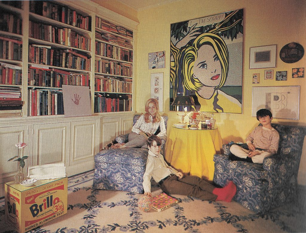 Holly, John and Thomas Solomon in New York apartment 1969