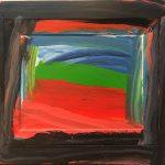 Howard Hodgkin, Going to America (1999). Oil on wood. Image copyright Howard Hodgkin Estate