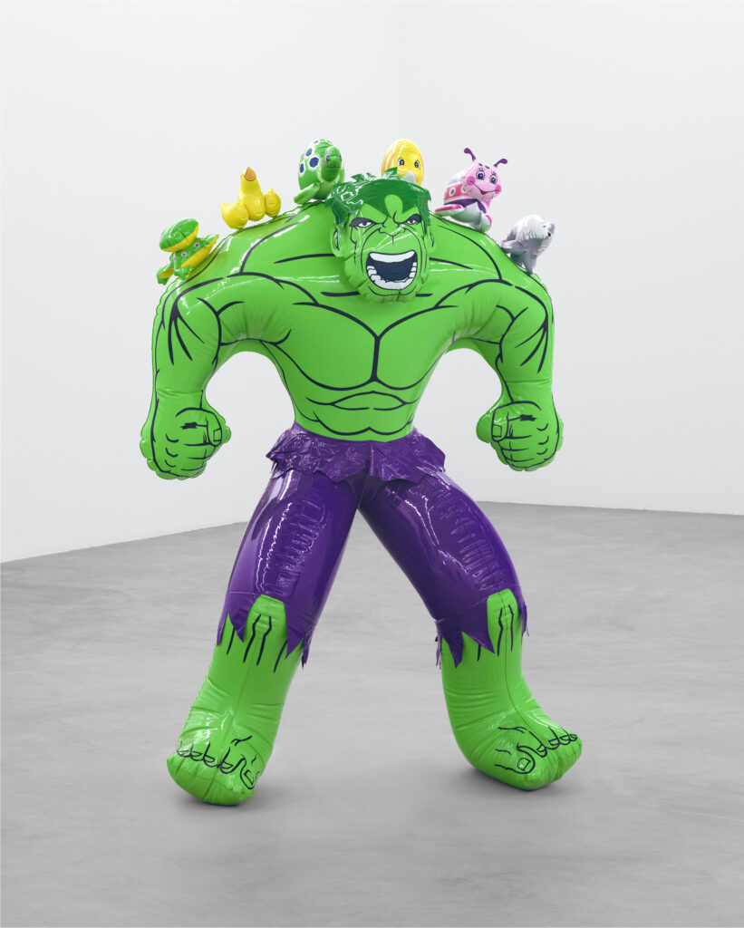 Jeff Koons, Hulk (Friends), 2004–2012. Collection of the artist. © Jeff Koons. Courtesy of Almine Rech. Photo: Marc Domage. FAD magazine