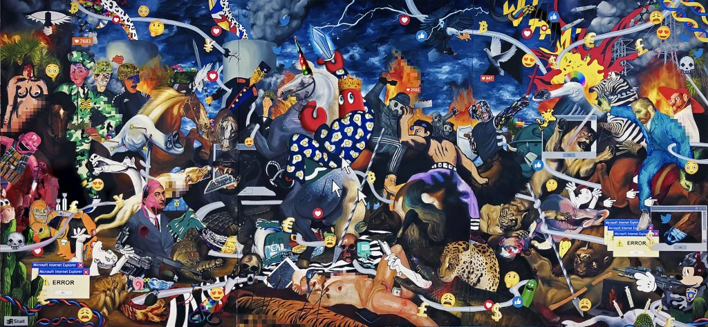 Hunt Paintings -Dark Hunt Triptych-wr-585x270mm-s