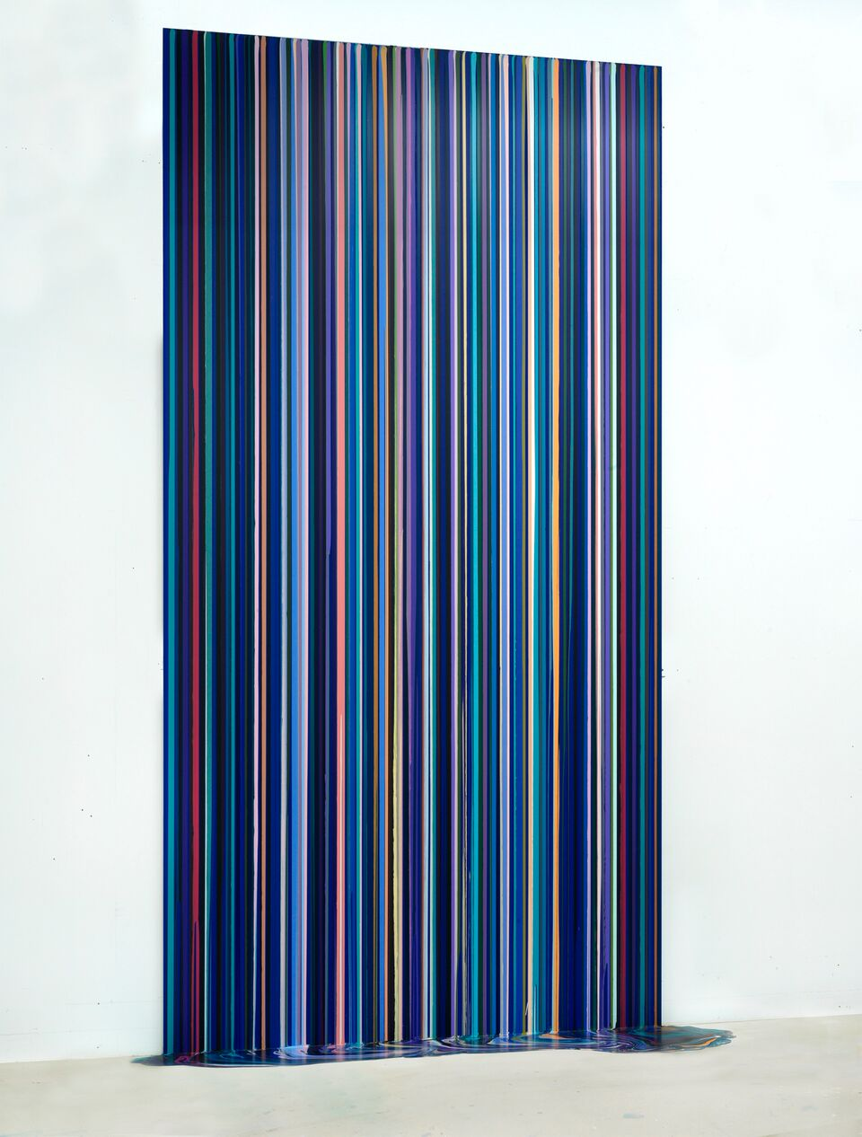 Ian Davenport Cobalt Blue Water Ian Davenport: Cascade 5 November 2017 – 6 January 2018 Visuals for the Press  2017 acrylic on aluminium mounted on aluminium FAD Magazine