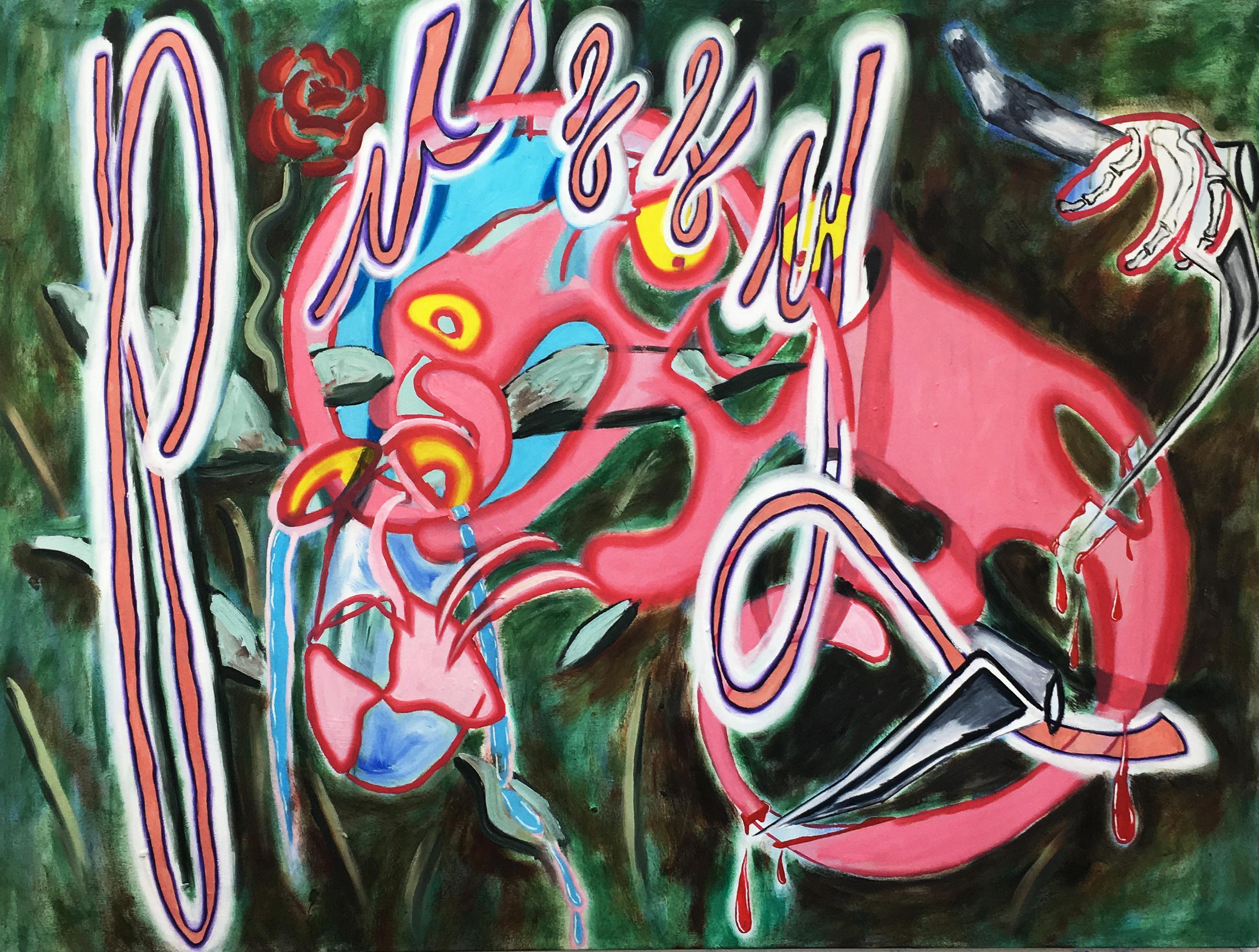 India Nielsen, Knip Repnathr, 2017, Oil and acrylic on canvas FAD Magazine