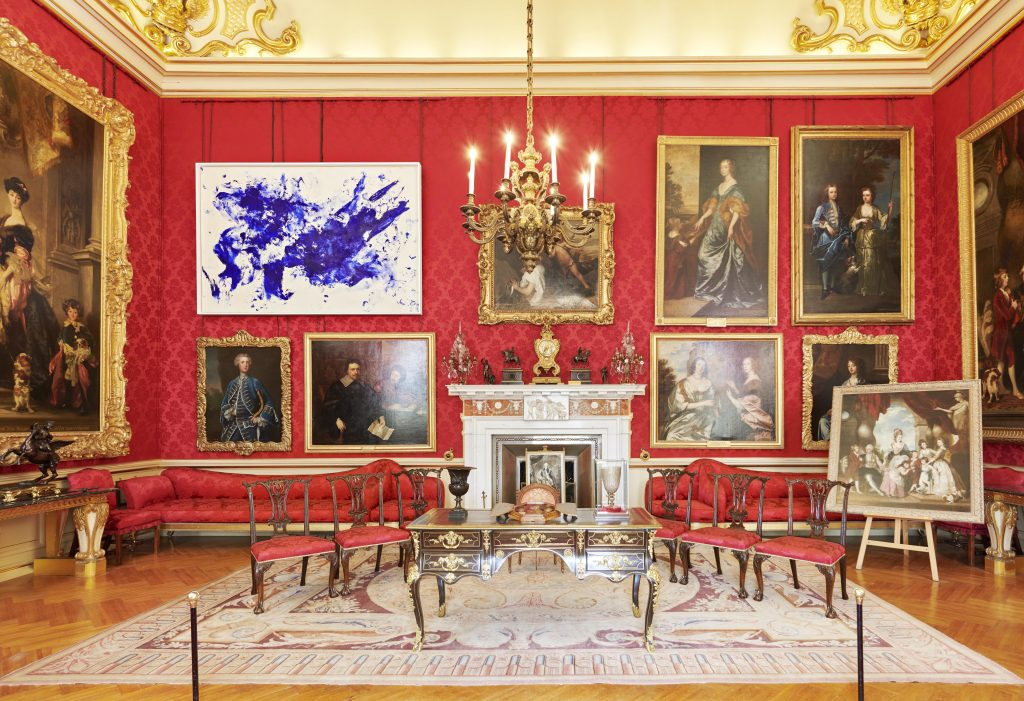 Installation view, Yves Klein, Jonathan Swift (c.1960), courtesy of Blenheim Art Foundation, photo by Tom Lindboe