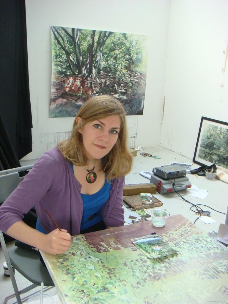 J.Losq in her studio 768x1024 Juliette Losq Catlin Art Prize Finalist Number 1