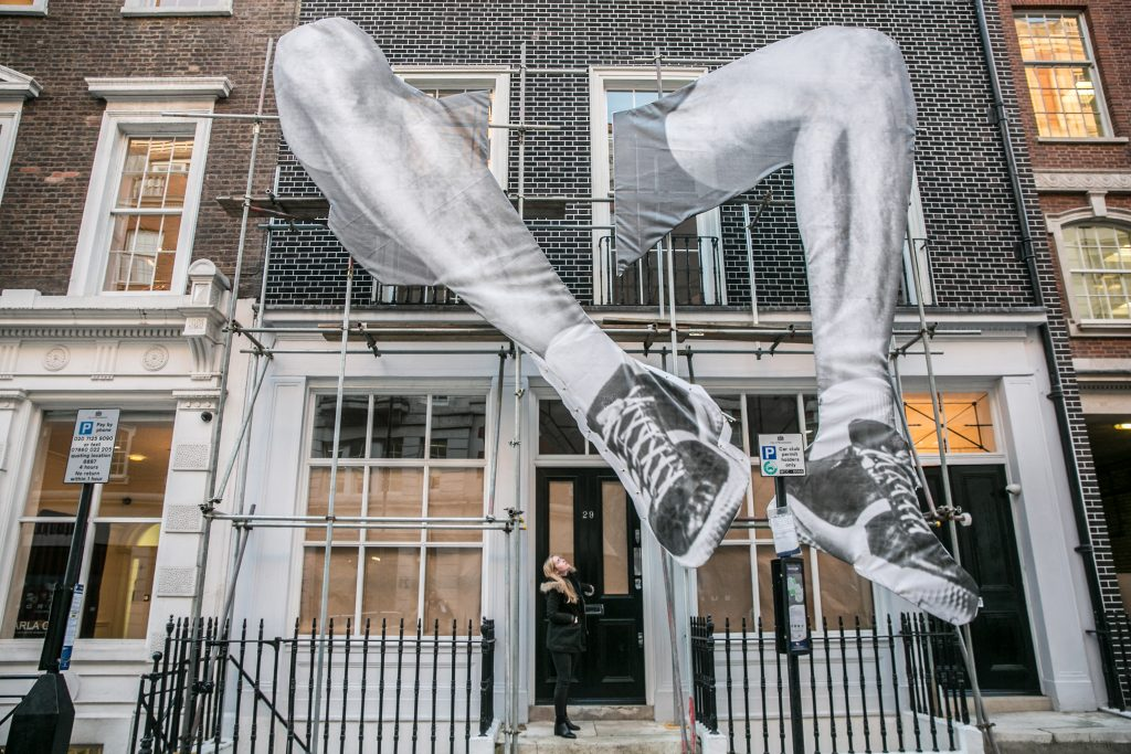 Artist JR unveils 22ft installation in Mayfair, London. FAD Magazine