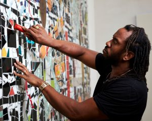FAD magazine Rashid Johnson in the studio 2020 © Rashid Johnson Courtesy the artist and Hauser & Wirth Photo: Axel Dupeu